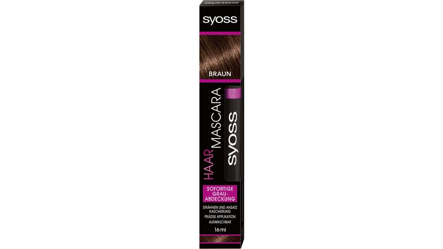 syoss Haar Mascara Coloration Braun