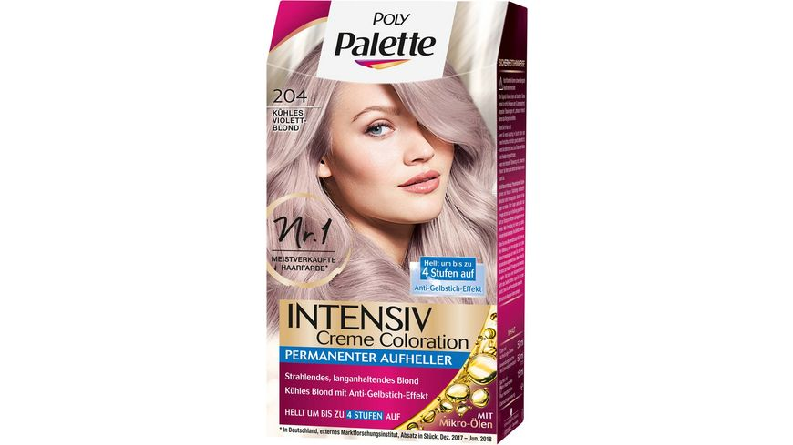 Schwarzkopf POLY PALETTE Intensiv Creme Coloration 204 Kuehles Violet Blond
