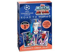 Topps Match Attax UEFA CL Road to Madrid 2018 2019 Karten Deck Box TC