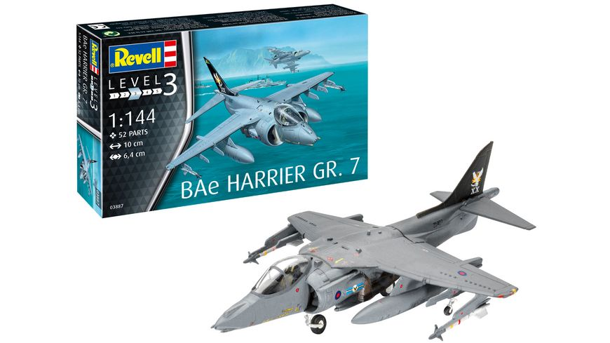 Revell 03887 Bae Harrier GR 7 Massstab 1 144