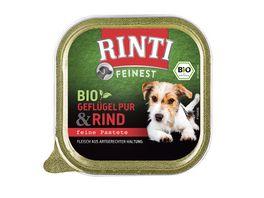 RINTI Feinest BIO Gefluegel Pur und Rind feine Pastete