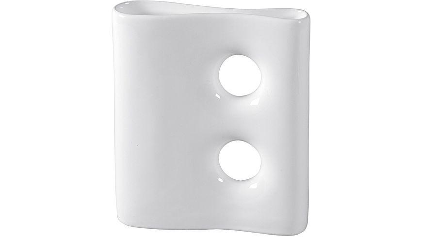 Keramik Vase mit 2 Kreisen 19x22cm