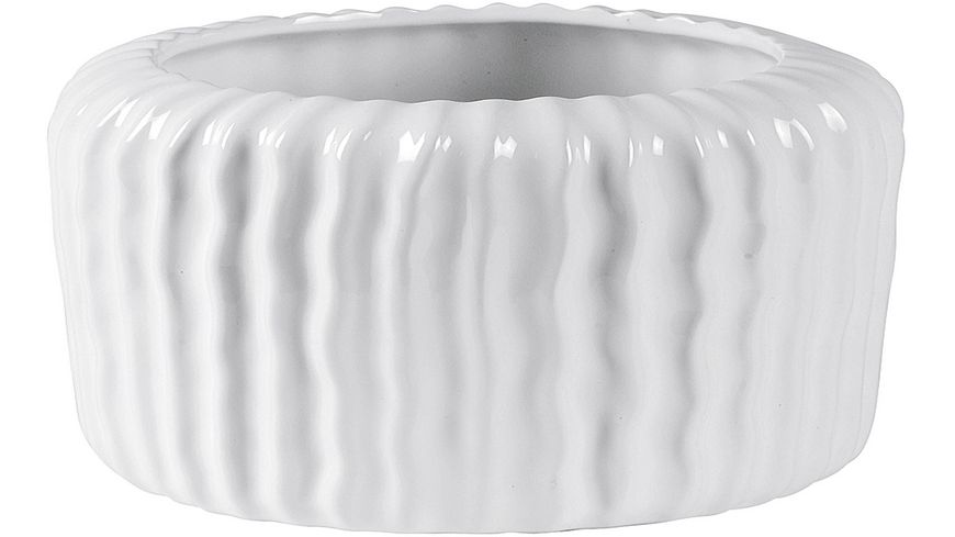 Keramik Schale Rillen H11cm