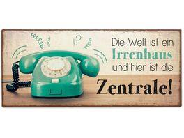 Geschenk fuer Dich Schild Irrenhaus 30 5x13 cm