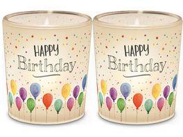 Geschenk fuer Dich Licht Happy Birthday 6 cm