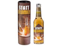 Geschenk fuer Dich Bier 0 33 l Statt Blumen