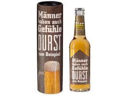 Geschenk fuer Dich Bier 0 33 l Maennergefuehle