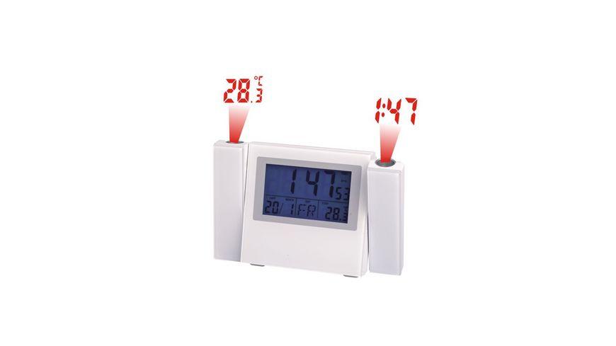 Weinberger Funkwecker Digital weiss 9 cm