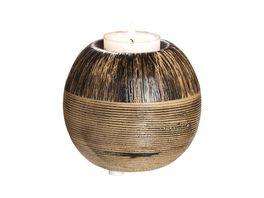 GILDE Keramik Ethno Teelichthalter Marron 8cm