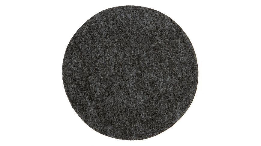 dunkelgrau 24 Filz Untersetzer quadatisch Gilde 10 cm