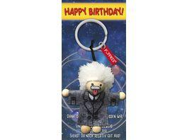 JOJO Pueppkes Schluesselanhaenger Happy Birthday