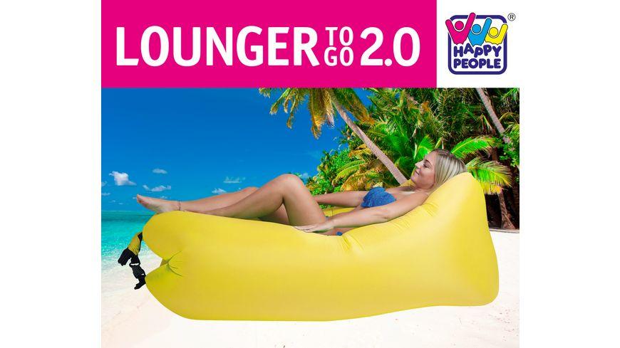 Happy People LOUNGER TO GO 2 0 Gelb Luftbett Ohne Aufpumpen Inkl Tragetasche 180 cm