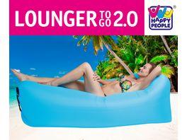 Happy People LOUNGER TO GO 2 0 Blau Luftbett Ohne Aufpumpen Inkl Tragetasche 180 cm