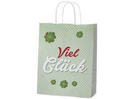 Geschenk fuer Dich Geschenktuete Glueck 22x10 cm