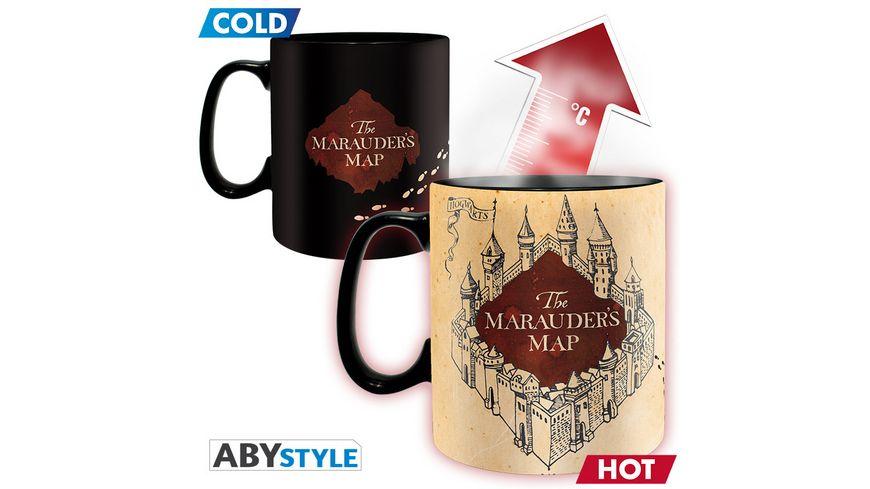 Harry Potter Marauder s Map Thermoeffekt Tasse