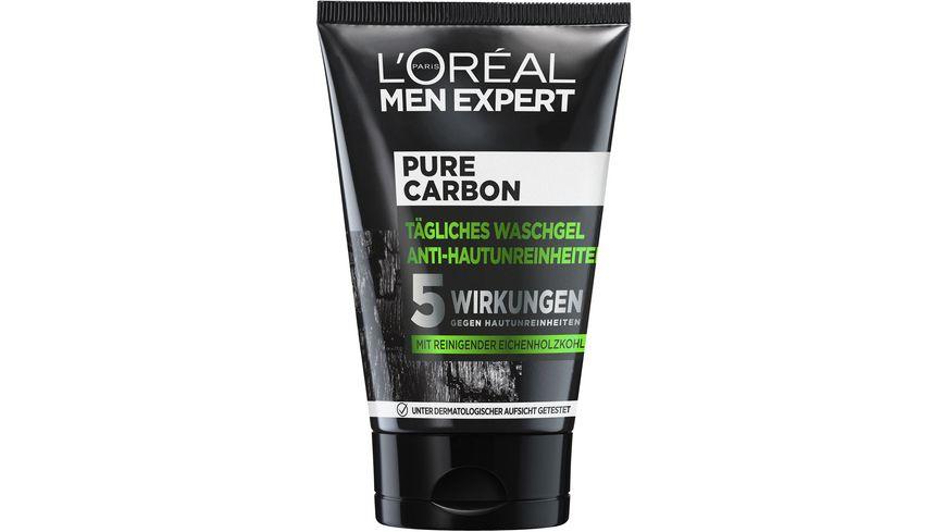 L OREAL PARIS MEN EXPERT Pure Charcoal Waschgel Anti Hautunreinheiten