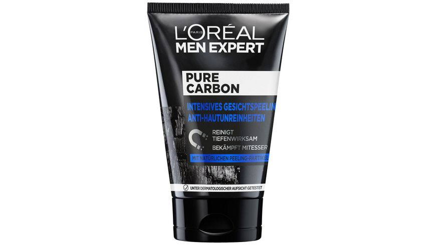 L OREAL PARIS MEN EXPERT Pure Charcoal Gesichtspeeling Anti Hautunreinheiten