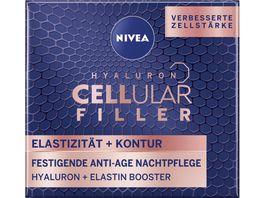NIVEA Hyaluron Cellular Filler Elastizitaet Kontur Festigende Nachtp