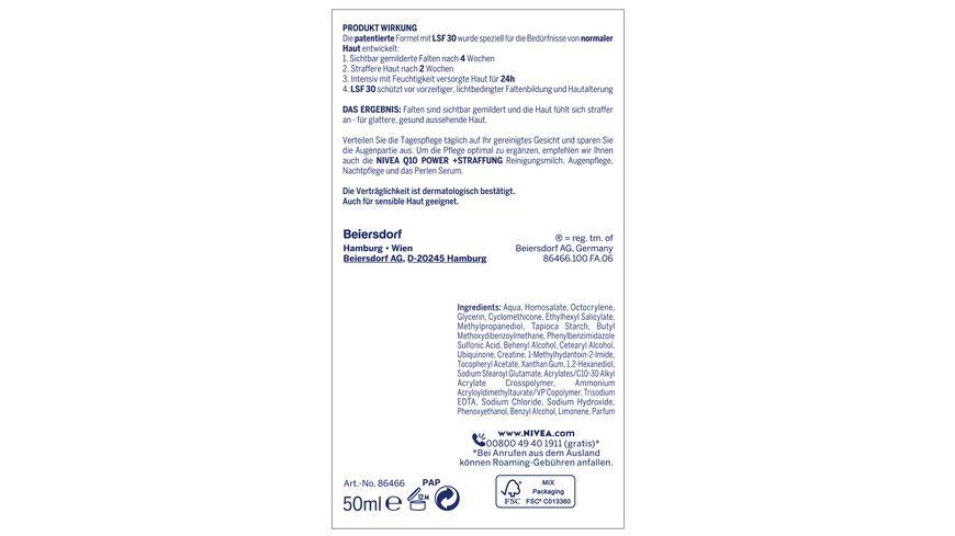 NIVEA Q10 Power Schuetzende Tagespflege LSF30