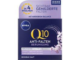 NIVEA Q10 Power Anti Falten Beruhigung Nachtpflege Sensible Haut 50ml