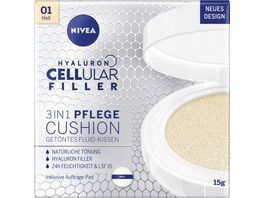 NIVEA Hyaluron Cellular Filler 3in1 Pflege Cushion Hell LSF15