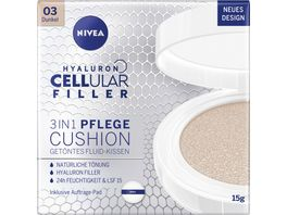 NIVEA Hyaluron Cellular Filler 3in1 Pflege Cushion Dunkel LSF15 15g