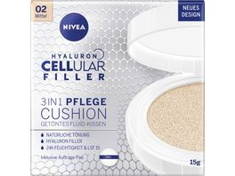 NIVEA Hyaluron Cellular Filler 3in1 Pflege Cushion Mittel LSF15