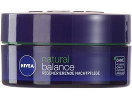 NIVEA Natural Balance Regenerierende Nachtpflege