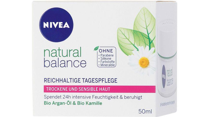 NIVEA Natural Balance Reichhaltige Tagespflege Trockene sensible Haut