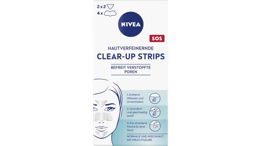 NIVEA Hautverfeinernde Clear up Strips 6 Stueck