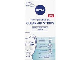 NIVEA Hautverfeinernde Clear up Strips 6 Stueck