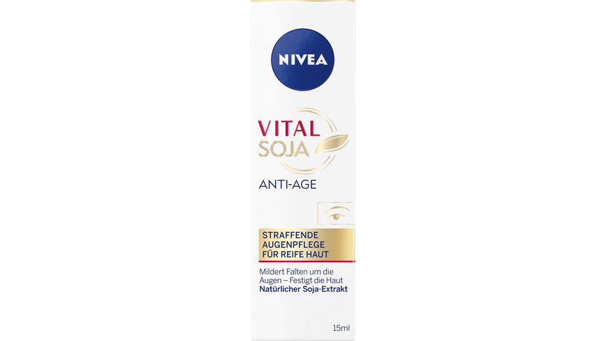 NIVEA Vital Soja Anti Age Straffende Augenpflege reife Haut