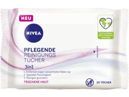 NIVEA 3IN1 Pflegende Reinigungstuecher Trockene Sensible Haut 25 Tuecher