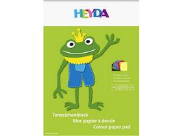 HEYDA Tonpapierblock A4 10 Blatt sorteiert