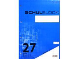 PAPERZONE Schulblock A4 Lineatur 27 50 Blatt