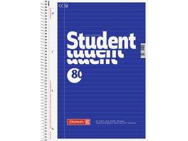 BRUNNEN Collegeblock A4 80 Blatt liniert blau