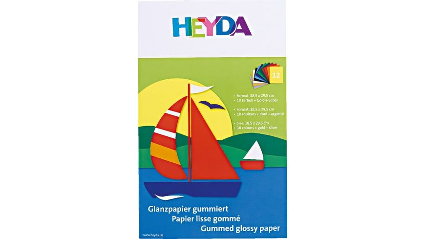 folia Glanzpapier Heft 12Blatt farblich sortiert