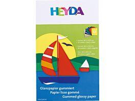 Glanzpapier Heft 12Blatt farblich sortiert