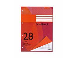 PAPERZONE Schulblock A4 Lineatur 28 50 Blatt