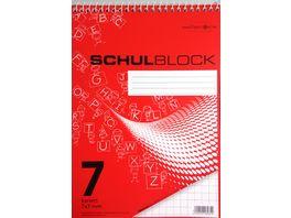 PAPERZONE Spiralschulblock A5 Lineatur 7 50 Blatt