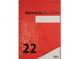 PAPERZONE Schulblock A4 Lineatur 22 100 Blatt
