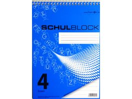 PAPERZONE Spiralschulblock A5 Lineatur 4 50 Blatt
