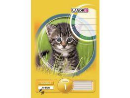 LANDRE Schulblock A5 Kontrast Lineatur 1 50 Blatt
