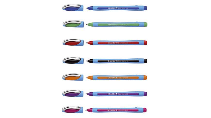 Schneider Kugelschreiber Slider Memo XB sortiert Mine blau