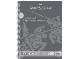 FABER CASTELL Collegeblock A4 kariert 80 Blatt 90g