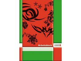 PAPERZONE Arbeitsblock A4 Lineatur 20 50 Blatt