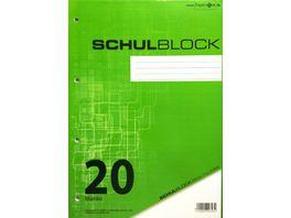 PAPERZONE Schulblock A4 Lineatur 20 50 Blatt