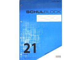 PAPERZONE Schulblock A4 Lineatur 21 50 Blatt