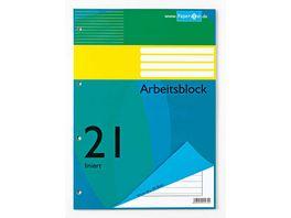 PAPERZONE Arbeitsblock A4 Lineatur 21 50 Blatt