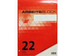 PAPERZONE Arbeitsblock A4 Lineatur 22 50 Blatt